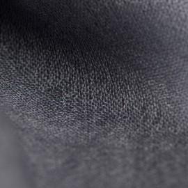 Dark grey pashmina stole in basket weave
