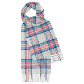 Light blue tartan scarf