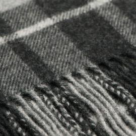 Grey tartan scarf