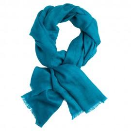 Ocean blue jacquard pashmina stole
