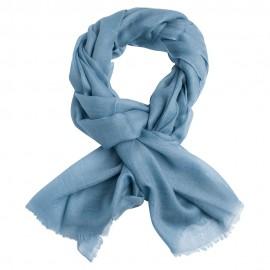 Slate grey pashmina shawl in 2 ply twill weave