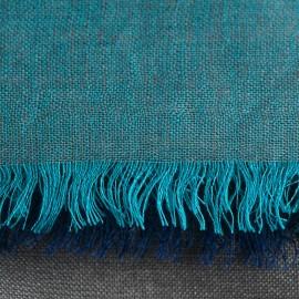 Three coloured pashmina shawl in petrol and grey
