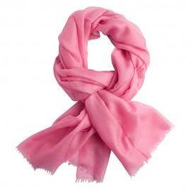 Pink pashmina stole in basket weave