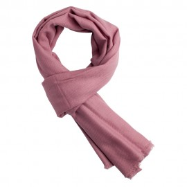Mauve pashmina scarf in twill weave