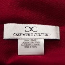 Burgundy pashmina shawl in 2 ply twill
