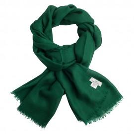 Dark green pashmina shawl in diamond weave