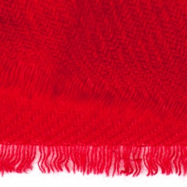 Dark red pashmina stole in twill weave
