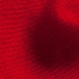 Dark red pashmina stole in twill weave