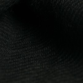 Black pashmina stole in twill weave