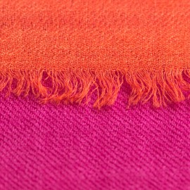 Shaded pashmina shawl in fuchsia and coral red