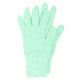 Light blue knitted gloves made from lambswool
