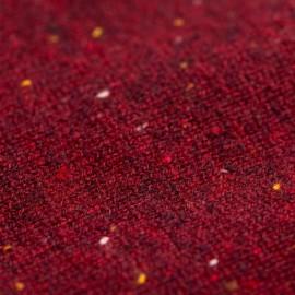 Burgundy flecked cashmere poncho