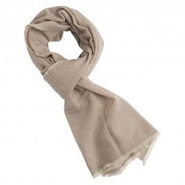 Cashmere scarf in beige/white melange