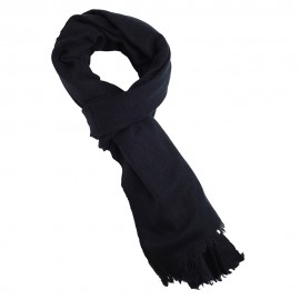 Midnight blue yak scarf