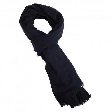 Midnight blue yak scarf