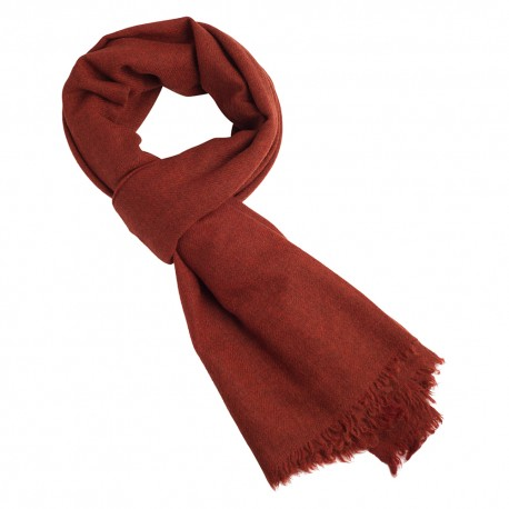 Orange yak scarf