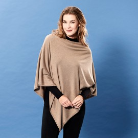 Mocca poncho in silk/cashmere mix