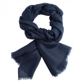 Navy pashmina stole in 2 ply twill weave