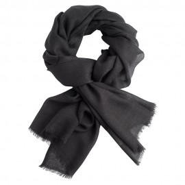 Charcoal pashmina stole in twill weave