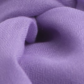 Amethyst pashmina stole in diamond weave