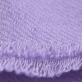 Amethyst coloured cashmere scarf in twill weave