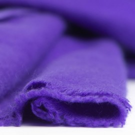 Blue-violet cashmere scarf in twill weave