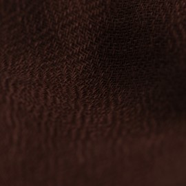 Dark brown pashmina stole in diamond weave