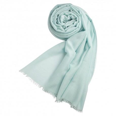 Opal coloured pashmina shawl in cashmere/silk