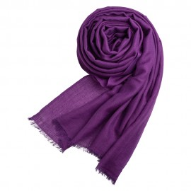 Dark purple pashmina shawl in cashmere/silk