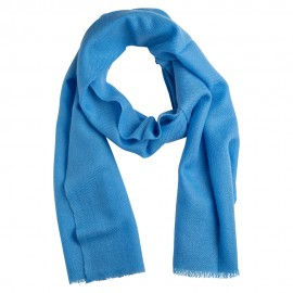 Small cashmere scarf in sky blue