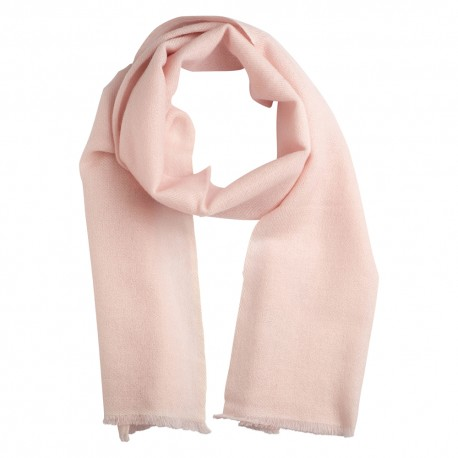 Small cashmere scarf in soft pink