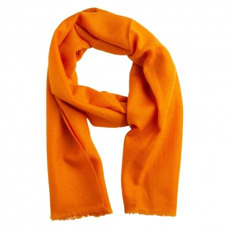 Small cashmere scarf in orange