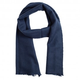 Small cashmere scarf in navy