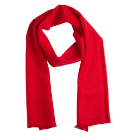 Small cashmere scarf in dark red