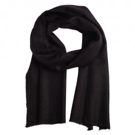 Small cashmere scarf in black