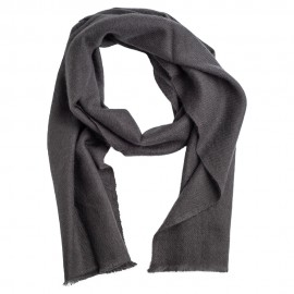 Small cashmere scarf in dark grey