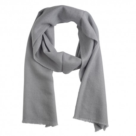 Small cashmere scarf in light grey