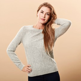 Cashmere sweater grey marled