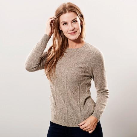 Cashmere sweater beige marled