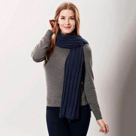 Navy blue cashmere scarf