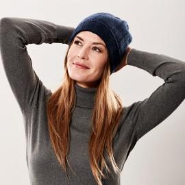 Navy blue cashmere hat