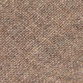 Cashmere stole in natural brown melange