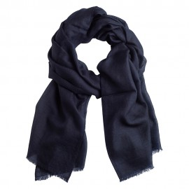 Navy pashmina stole in basket weave