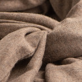 Cashmere scarf in natural brown melange