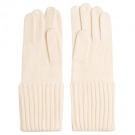 Off-white cashmere gloves
