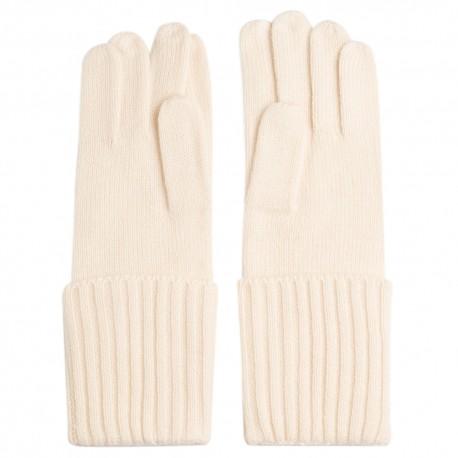 Off-white cashmere gloves