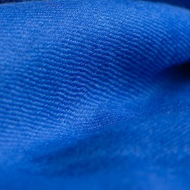 Blue pashmina shawl in 2 ply cashmere twill