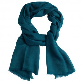 Petrol green pashmina stole in diamond weave