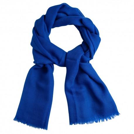Blue pashmina stole in diamond weave