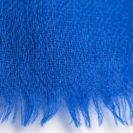 Blue pashmina stole in diamond weave